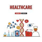 Gesundheitswesenhintergrunddienstleistungen Stockbild