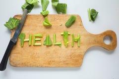 Gesundheitswort Stockbild