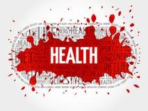 Gesundheitswortwolke, Eignung Stockbilder