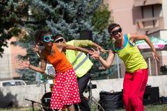 Gesynchroniseerde dansers Stock Fotografie
