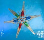 Gesynchroniseerde zwemmers Royalty-vrije Stock Afbeelding