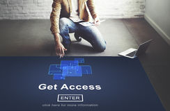 Get Access Availability Obtainable Online Internet Technology Co Stock Photo