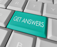 Get Answers - Computer Key. A keyboard with a key reading Get Answers Royalty Free Stock Photos