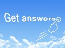 Get answers message cloud shape vector illustration