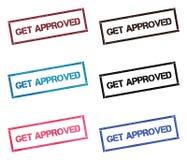 Get a approuvé la collection de timbre rectangulaire illustration stock
