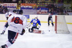Get away the puck Stock Photography