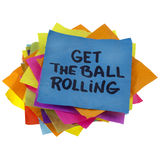 Get the ball rolling Stock Photography