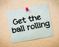 Get the ball rolling Royalty Free Stock Photo