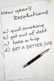 Get a better job. New year resolutions with get a better job Royalty Free Stock Image