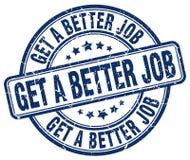 Get a better job blue stamp Stock Photos