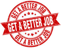 get a better job round grunge stamp Royalty Free Stock Photo