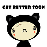 Get Better Soon. A cat not feeling so well, high resolution JPEG with a vector illustration file Stock Photography