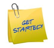 Get começou o post-it Imagens de Stock