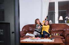 Get control over tv Stock Photos