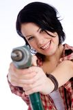 Get drilled!. Young do-it-yourselfer with a drilling machine Stock Photography