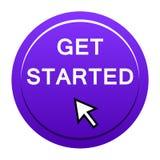 Get encendió el botón ilustración del vector