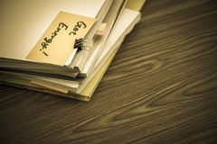 Get Energy; The Pile of Business Documents on the Desk royalty free stock photo