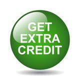 Get extra credit. Web button - computer generated illustration on isolated white background royalty free illustration