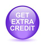 Get extra credit. Web button - computer generated illustration on isolated white background stock illustration