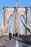 Get fit on Brooklyn Bridge Stock Image