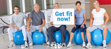 Get Fit Now in fitness center Royalty Free Stock Photos