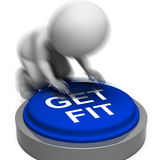 Get Fit Pressed Means Training And Workout Royalty Free Stock Photos