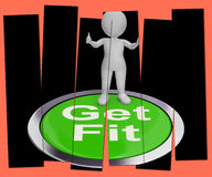 Get Fit Pressed Shows Exercise And Working Out Stock Photos