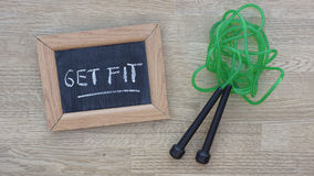 Get fit written Stock Photo