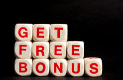 Get free bonus symbol for sales promotion Stock Photos