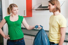 Get the garbage out royalty free stock image