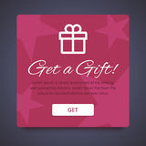Get A Gift Form For Your Website Or Application Royalty Free Stock Photography