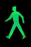 Get Going. The little green man on a traffic signal Stock Images