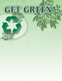Get green. Illustration of get green message with a recycle symbol and space for text royalty free illustration