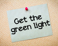 Get the Green Light Royalty Free Stock Photos