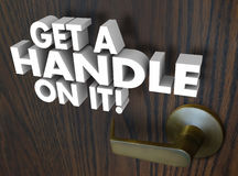 Get a Handle On It Understand Grasp SItuation Knowledge Stock Images