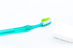 Get healthy smile with perfect toothpaste Royalty Free Stock Photo