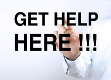 Get help here Royalty Free Stock Images
