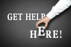 Get help here Stock Images