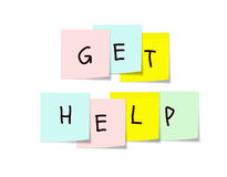 Get Help Sticky Notes Royalty Free Stock Photo