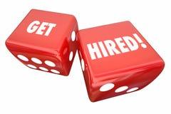 Get Hired Roll Dice Take Chance Career Job. 3d Illustration vector illustration