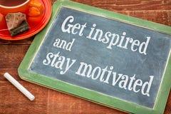 Get a inspiré et séjour motivé Photos stock