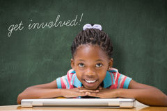 Get involved! against green chalkboard Stock Photography