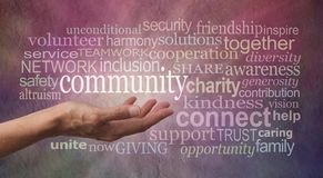 Get involved with your Community Word Tag Cloud Royalty Free Stock Image