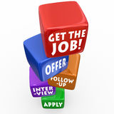 Get the Job Application Process Interview Follow-Up Offer Royalty Free Stock Photography