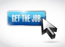 Get the job button and cursor. illustration design Royalty Free Stock Photos