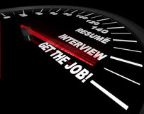Get the Job - Interview Process - Speedometer Stock Image