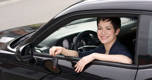 Get the Keys Driver Hands Over Electronic Car Key Stock Images