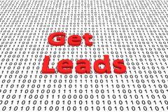 Get leads. In the form of binary code, 3D illustration Royalty Free Stock Image
