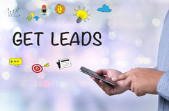 GET LEADS Royalty Free Stock Image
