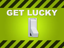 Get Lucky concept Royalty Free Stock Image